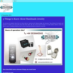 Persis Collection: 5 Things to Know About Handmade Jewelry