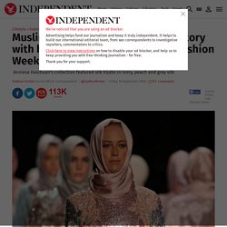 Muslim fashion designer makes history with hijab collection at New York Fashion Week