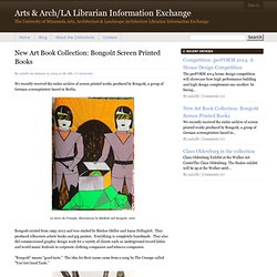 New Art Book Collection: Bongoût Screen Printed Books - Arts & Arch/LA Librarian Information Exchange