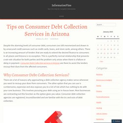 Tips on Consumer Debt Collection Services in Arizona