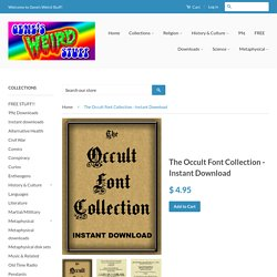 The Occult Font Collection - Instant Download – Gene's Weird Stuff
