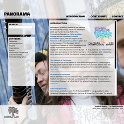 PANORAMA : A resource collection for Intercultural Dialogue