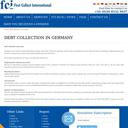 Debt Collection In Germany