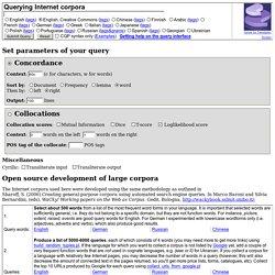 Leeds collection of Internet corpora