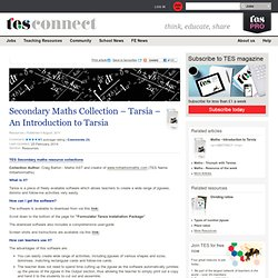 Secondary Maths Collection – Tarsia – An Introduction to Tarsia