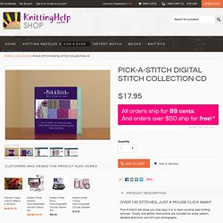 Shop - Pick-A-Stich Digital Stitch Collection CD