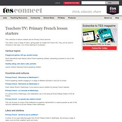 Teachers TV video collection - Primary languages - Lesson Starters - French