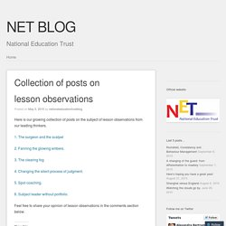 Collection of posts on lesson observations