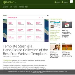 Template Stash is a Hand-Picked Collection of the Best Free Website Templates