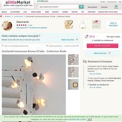 Guirlande lumineuse Brume 10 leds - Collection Nude : Luminaires par daiceramic