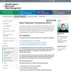 Data Collection Framework (DCF) - Swedish Agency for Marine and Water Management