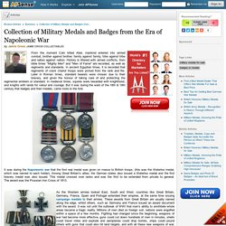Collection of Military Medals and Badges from the Era of Napoleonic War