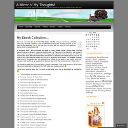 My Ebook Collection… « A Mirror of My Thoughts!