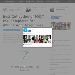Best Collection of iOS 7 PSD Templates for iPhone App Developers