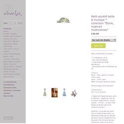 """olivelse, le shop ! — Petit ukulélé boîte à musique * collection """"Étoile, nuances multicolores"""""""