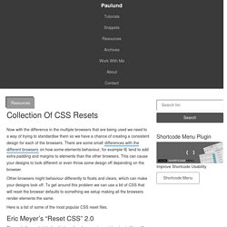 Collection Of CSS Resets