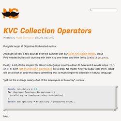 KVC Collection Operators