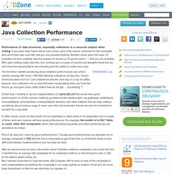 Java Collection Performance