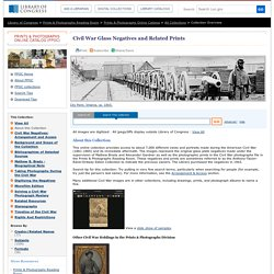 Selected Civil War Photographs Home Page