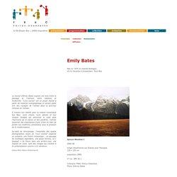 Emily Bates, collection FRAC Poitou-Charentes