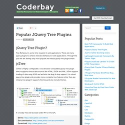 Popular JQuery Tree Plugins