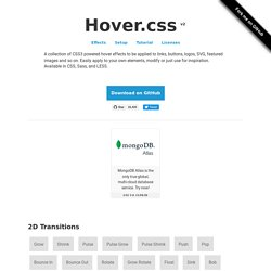 Hover.css - Collection Of CSS3 Powered Hover Effects