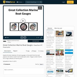Great Collection Marine Boat Gauges