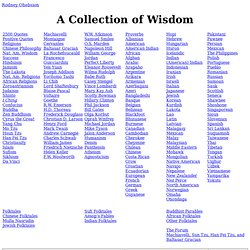 A Collection of Wisdom - Quotes, Proverbs, Folktales, More