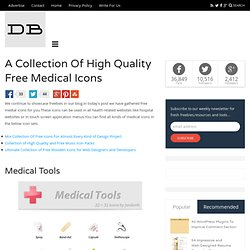 A Collection Of High Quality Free Medical Icons