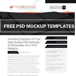 Collection of free high quality PSD mockups for designs