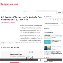 A Collection Of Resources For An Up To Date Web Designer - 30 New Tools