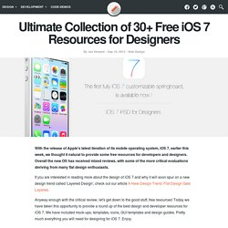 Ultimate Collection of 30+ Free iOS 7 Resources for Designers