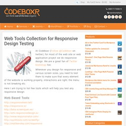 Web Tools Collection for Responsive Design Testing