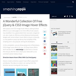 A Wonderful Collection Of Free jQuery & CSS3 Image Hover Effects