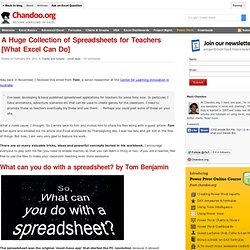 Collection of Excel Spreadsheets for Teachers - Examples & teaching aids - FREE Download