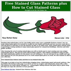 Huge Collection of Free Stained Glass Patterns
