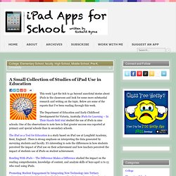A Small Collection of Studies of iPad Use in Education