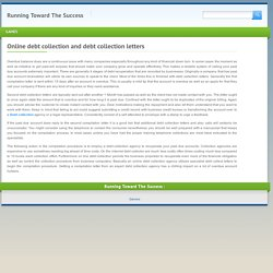 Online debt collection and debt collection letters - Running Toward The SuccessRunning Toward The Success