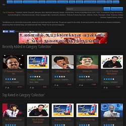 Category - Collection : TamilMusica - Tamil Music Portal - Free Download tamil movie mp3 songs