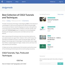 Best Collection of CSS3 Tutorials and Techniques
