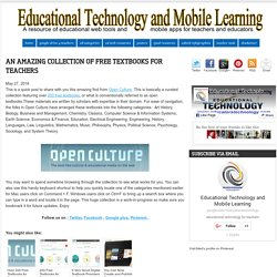 Educational Technology and Mobile Learning: An Amazing Collection of Free Textbooks for Teachers