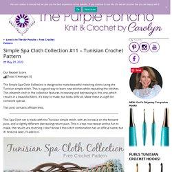 Simple Spa Cloth Collection #11 - Tunisian Crochet Pattern - The Purple Poncho