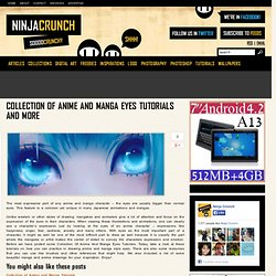 Collection Of Anime And Manga Eyes Tutorials And More