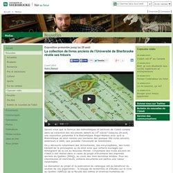 La collection de livres anciens de l'Université de Sherbrooke révèle ...