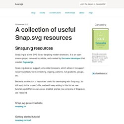 A collection of useful Snap.svg resources