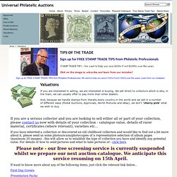 Stamp collection valuations. We sell direct to collectors.