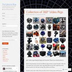 Collection of 360° Video Rigs