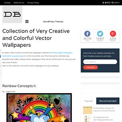 Collection of Very Creative and Colorful Vector Wallpapers