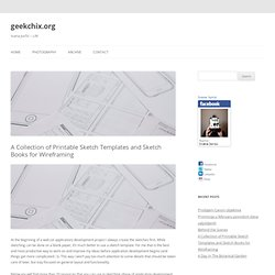 Ivana Jurčić – Lilit » Blog Archive » A Collection of Printable Sketch Templates and Sketch Books for Wireframing