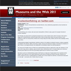 #collectionfishing on twitter.com | conference.archimuse.com